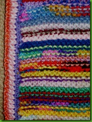 2012 garter stitch striped afghan detail