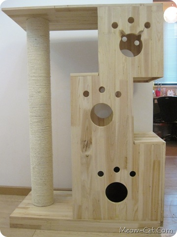 6 free plans for cat tree meow for Cat tree blueprints