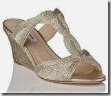 LK Bennett Abbie Gold Wedge Sandal