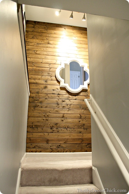 wood stained planked wall