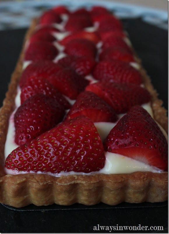 Strawberry Lemon Cream tart (7)