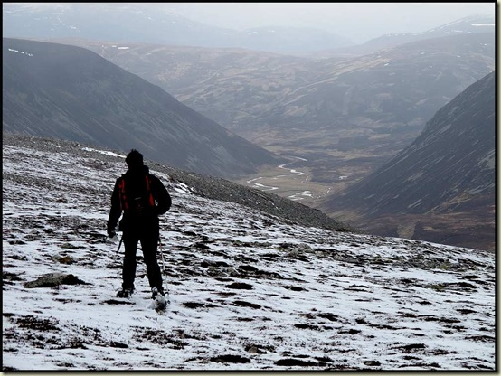 Looking down to Glen Ey from An Socach