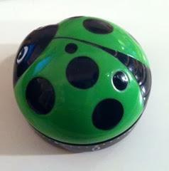 Green ladybug timer side