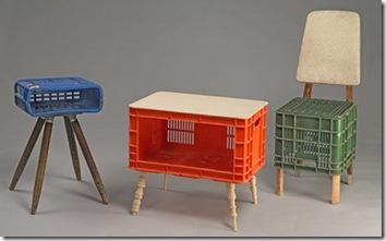 milk crate chair