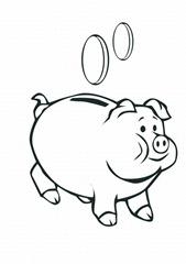 porquinho-cofre-Desenhos e Riscos para colorir