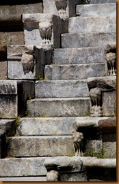 pergamon, steps at theater, asklepion