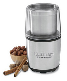 Cuisinart's Spice and Nut Grinder makes it easy to create your own fresh ground spice blends.  I'm working on a little something I like to call Sharkey's Seasoning.  Watch out Emeril!