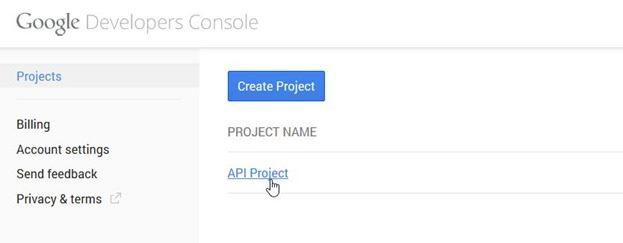 creare-progetto-google-developers-console