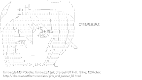 [AA]Nishizumi Maho (Girls und Panzer)
