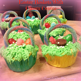 How To Make Easter Basket Cupcakes With A Creamy Center