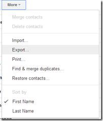 Contacts Export