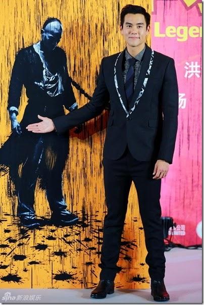 2014.06.12 Eddie Peng during Rise of the Legend - 彭于晏 黃飛鴻之英雄有夢 北京 - 揭幕国际版海报 02