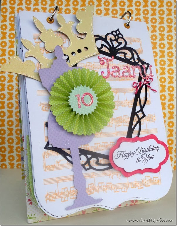 CraftyJC 10th Birthday Flip Card 1