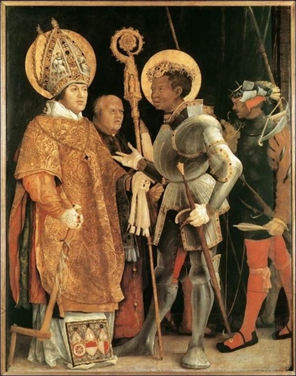 Matthias Grünewald , St Erasme  et St Maurice