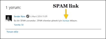 spam yorum