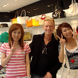 taking a picture with some cute Japanese girls in a fashion store in Harajuku in Harajuku, Tokyo, Japan
