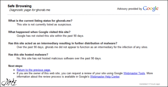 Google Safe Browsing Diagnostic