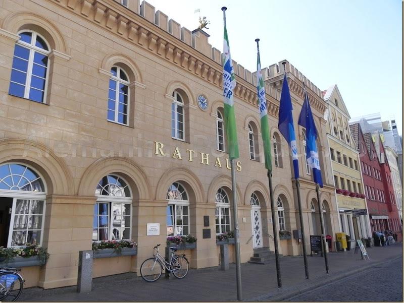 O prédio da prefeitura de Schwerin