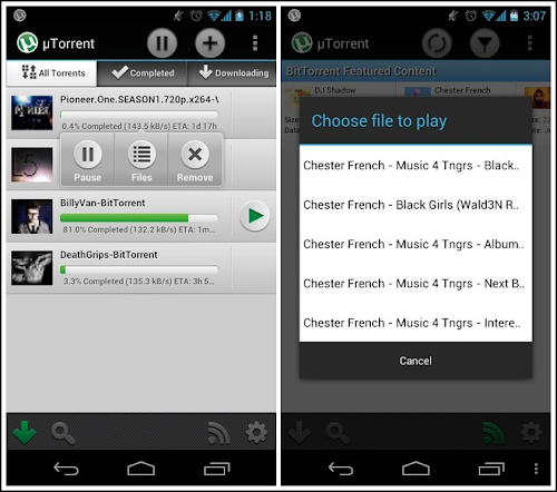 µTorrent per Android