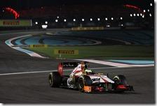 Pedro De La Rosa con l'HRT ad Abu Dhabi