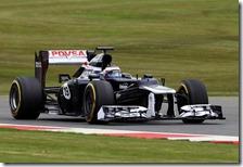 Bottas nei test di Silverstone 2012