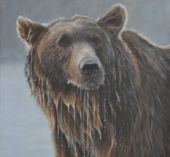 grizzly painting