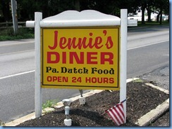 1922 Pennsylvania - Ronks, PA - Lincoln Highway - Jennie's Diner sign