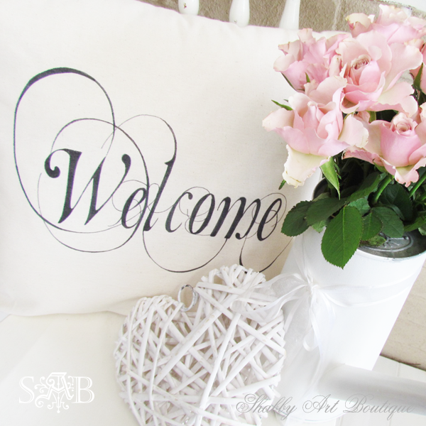 Shabby Art Boutique - welcome cushion 4