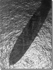 Hindenburg shadow over ocean