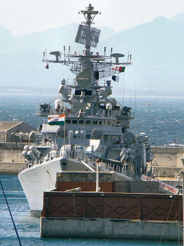 Indian Navy Warship, INS Mumbai, in South Africa for the IBSAMAR exercise