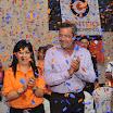 El líder de Centro Democrático, Jimmy Jairala, junto a la directora del Frente Femenino, Verónica Loaiza