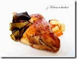 zkotemwkuchni.dieta dukana.kurczak z porem i warzywami pieczony w rękawie