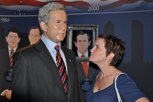 Shelley giving Bush the look.