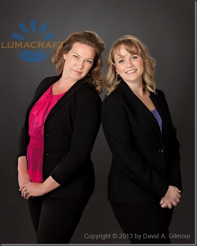 Portrait by Lumacraft Photography of Tammy and Pam, organizers and speakers, Real Women Real Business Conference, May 4 2103, Mississauga