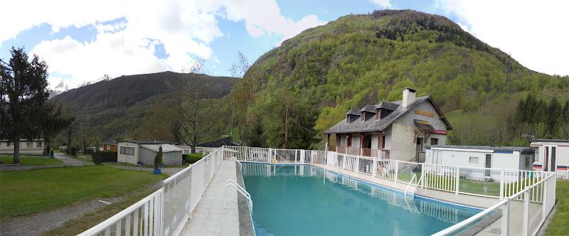 panorama piscine camping laruns