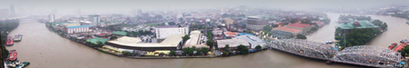 panoramic view of Manila and the Pasig River