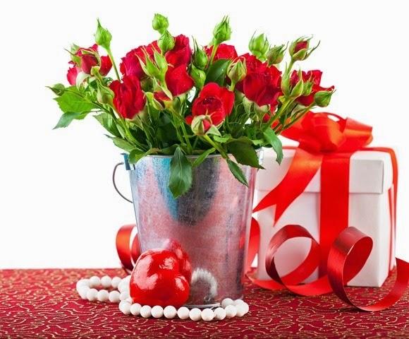 arranjo floral com rosas