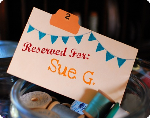 Reserved for Sue