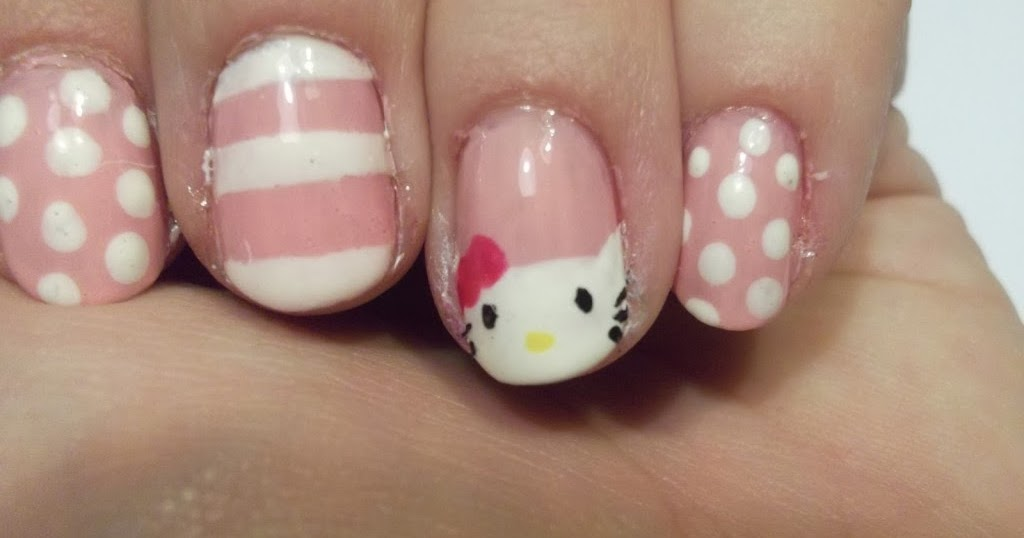 Hello Kitty Nail Designs For Short Nails | Nail Designs, Hair Styles ...