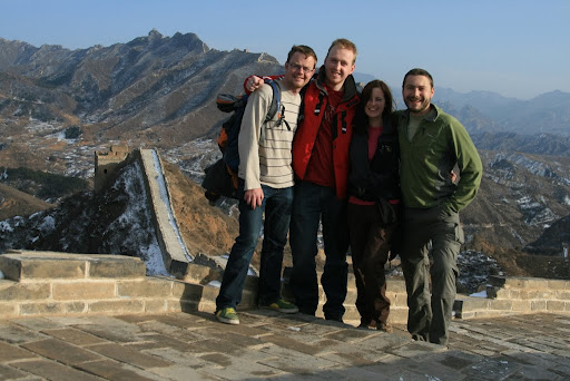 Eddie, Trevor, Lynette and I about halfway between Jinshanling and Simatai.