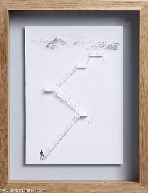 obras de arte em papel 3D origami Peter Callesen desbaratinando (45)