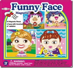 magnetic funny face girl tin box puzzles toys dress ups 350