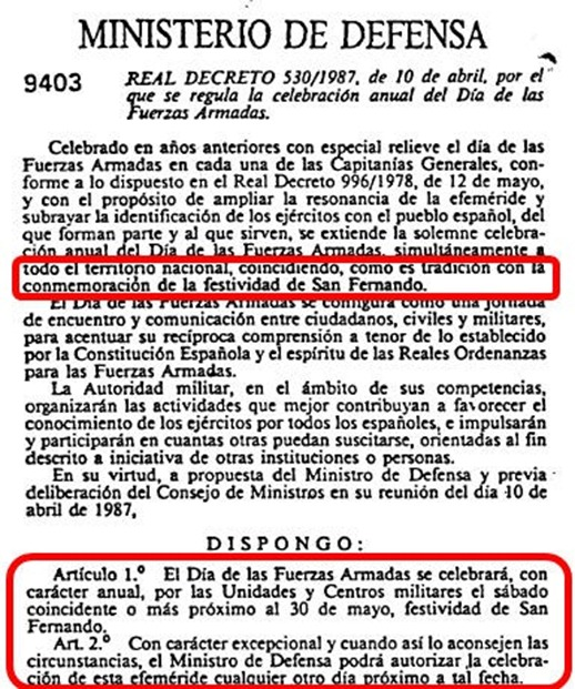 día fuerzas armadas españolas
