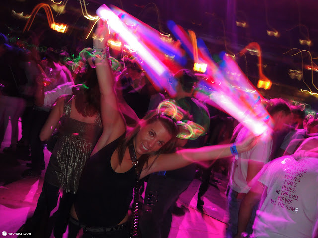 unleashing the glowsticks in Toronto, Ontario, Canada