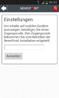 Screenshot of NewsPoint mobile