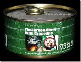 Enlatado - Crocodilo ao molho currry - Tailândia