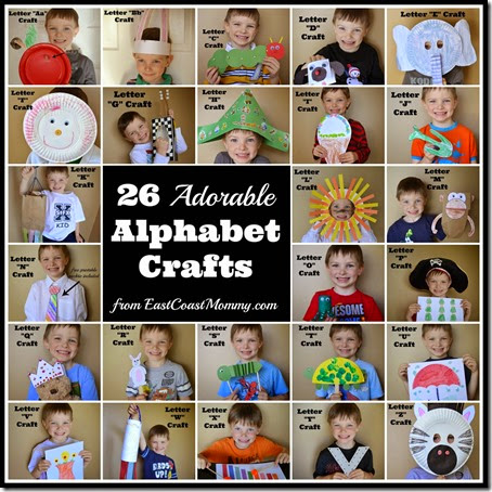 26 Adorable Alphabet Crafts for Kids #alphabet #preschool