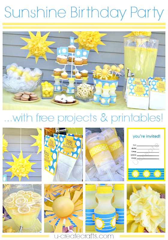 Tons of Sunshine Birthday Party Ideas and Free Printables