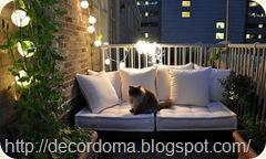 Декор балкона с помощью освещения 2