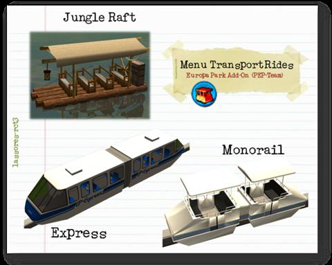 Menu Transport Rides Cars (PEP-Team) lassoares-rct3